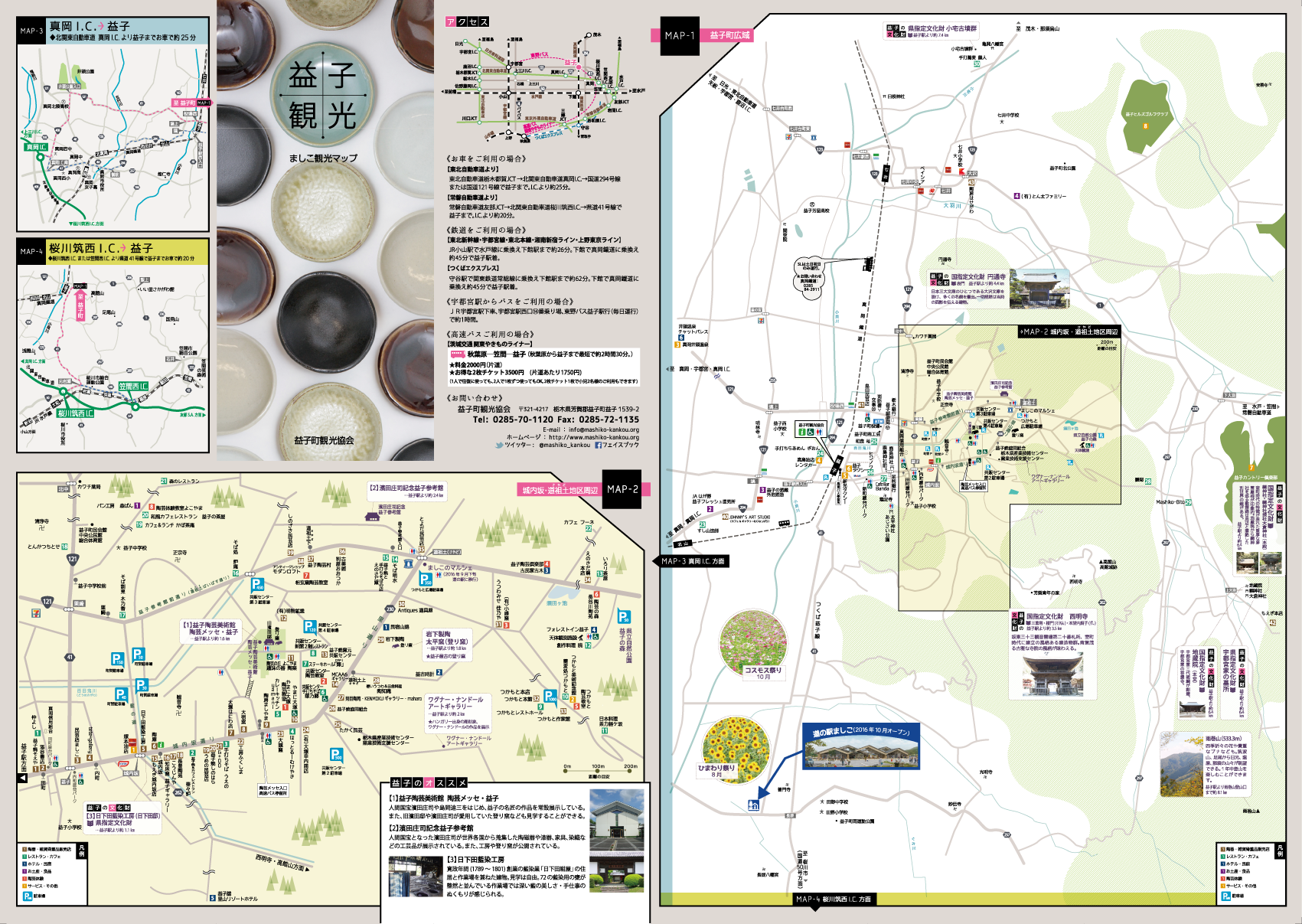益子町観光マップ